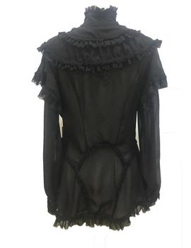 BLUSA HIGHLY PREPPY VOLANTES NEGRA