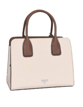 BOLSO TOUS CITY M. ESSENTIAL BEIGE-MARRÓN