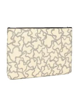 CLUTCH TOUS ICON MULTI-BEIGE