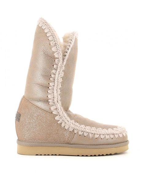 BOTA ESKIMO INNER WEDGE TALL -BEIGE METALIZADO